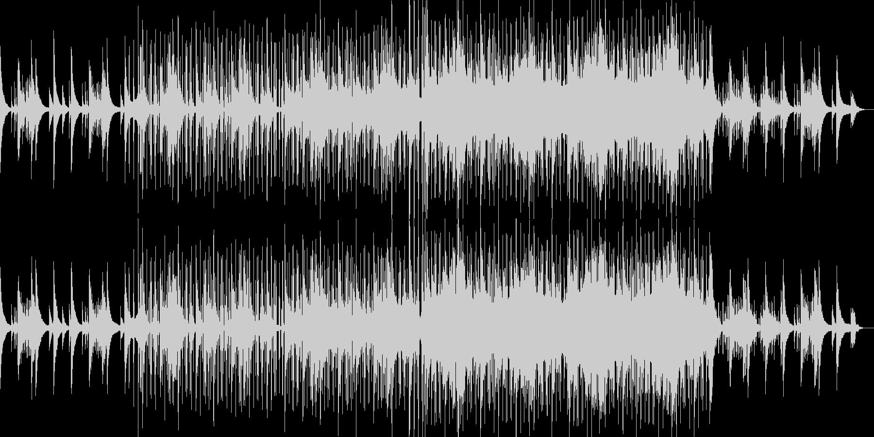ピアノの美しい旋律が印象的なジャズの未再生の波形