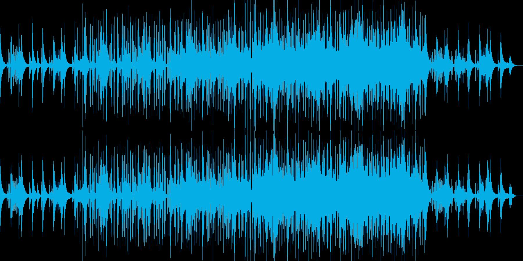 ピアノの美しい旋律が印象的なジャズの再生済みの波形