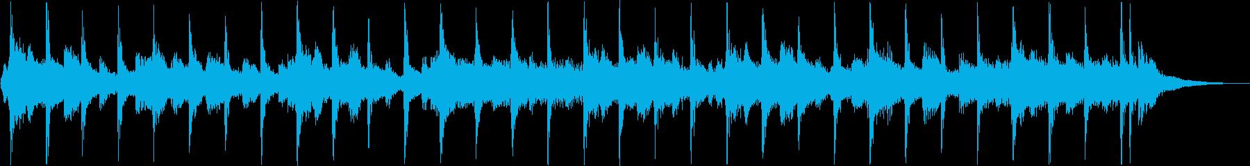アクティブでポップなジングルの再生済みの波形