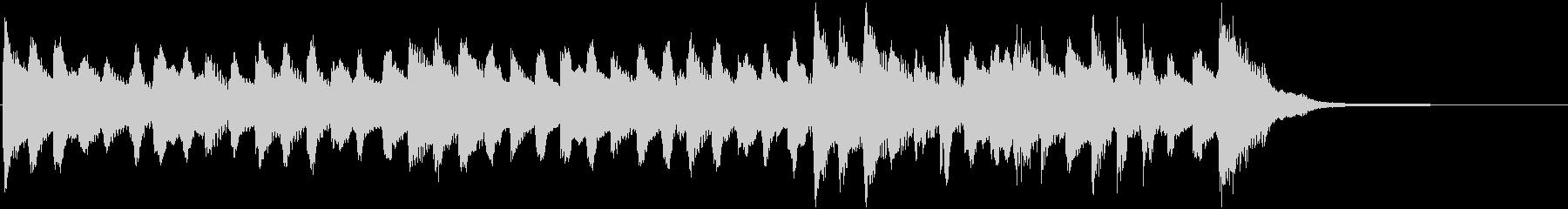 オーガニックなミニマルミュージック15秒の未再生の波形