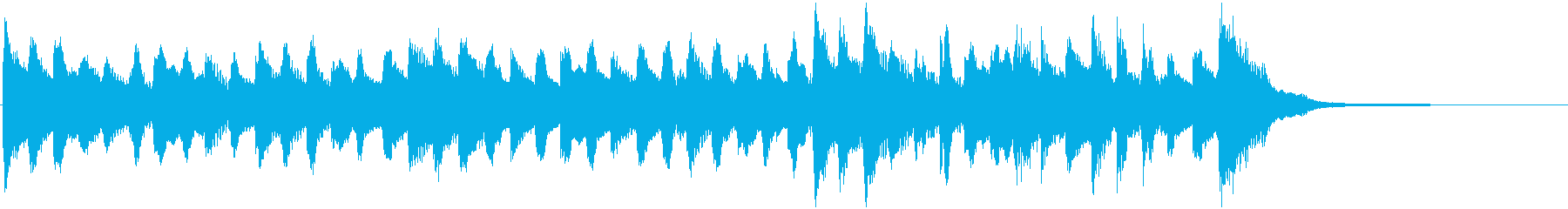 オーガニックなミニマルミュージック15秒の再生済みの波形