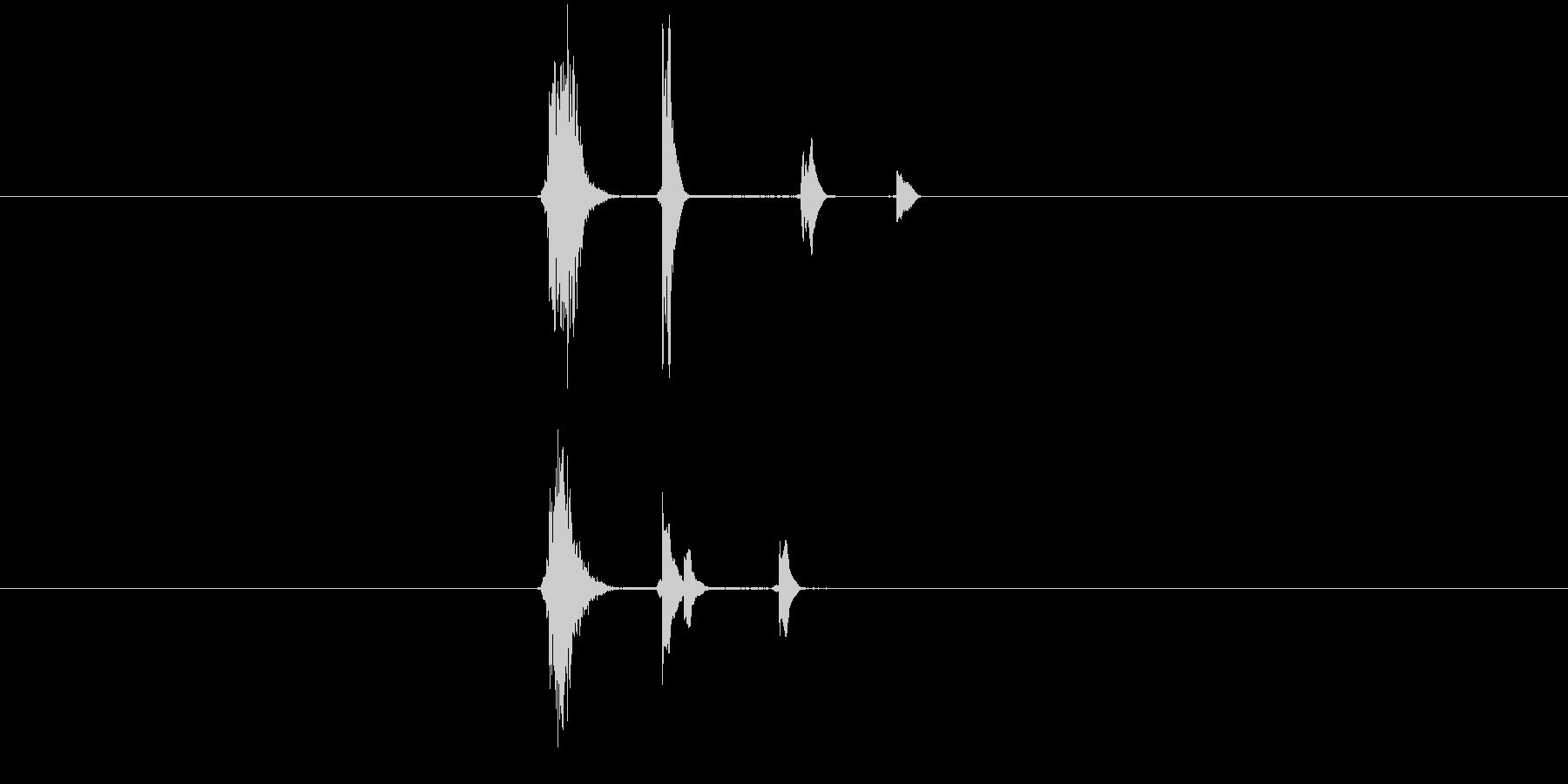 決定音やマウスオーバー音。かわいらしい…の未再生の波形