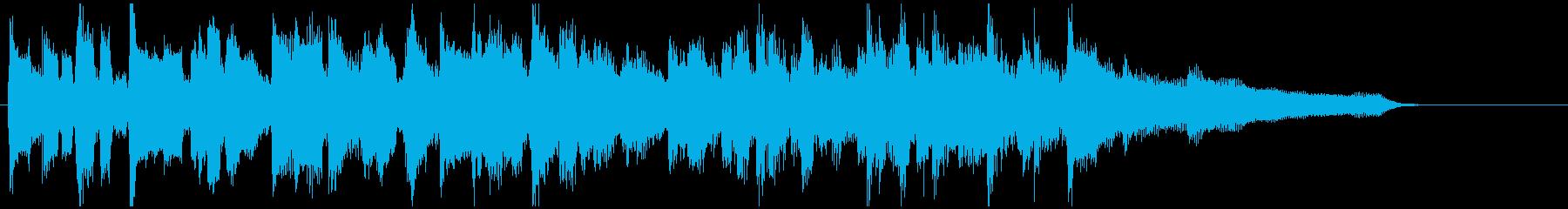 サックス生演奏のジャズ◆15秒CM向けの再生済みの波形