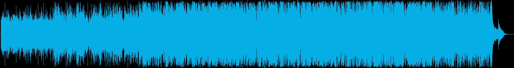 星空をイメージしたヒーリングBGMの再生済みの波形