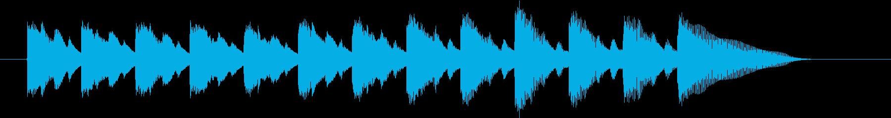 落下するイメージのジングルの再生済みの波形