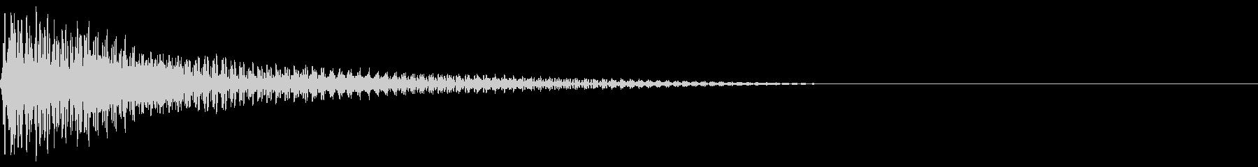 ピコン(ピアノの警告音)4の未再生の波形