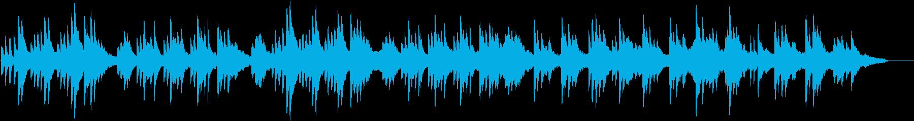 ピアノとストリングスの優しい曲02の再生済みの波形