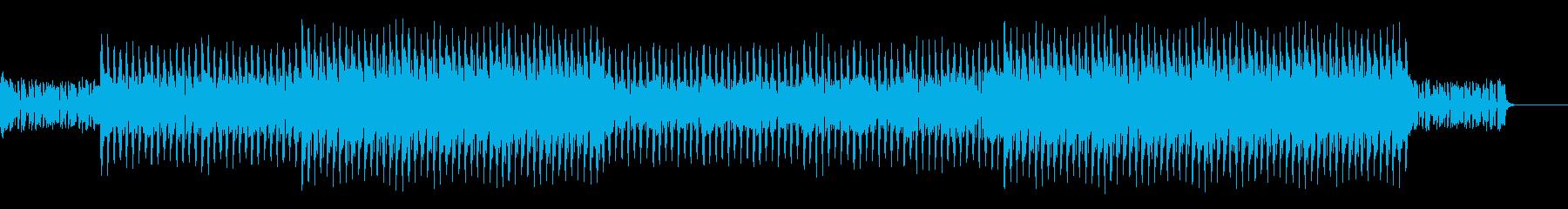 シリアスで機械が動く様なデジタルBGMの再生済みの波形
