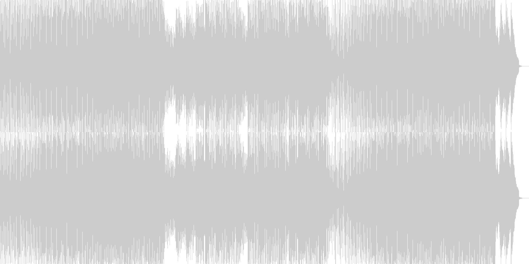 オシャレでシンプルなダンスミュージックの未再生の波形