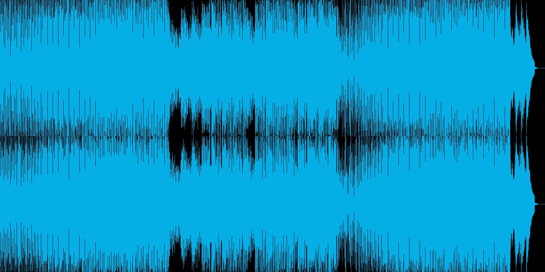 オシャレでシンプルなダンスミュージックの再生済みの波形