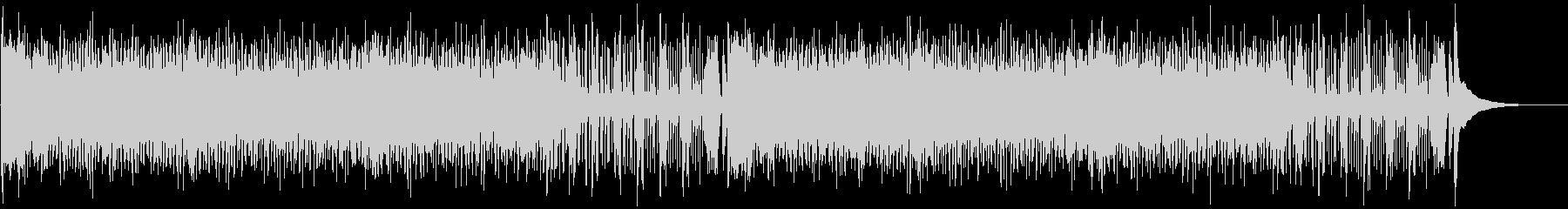 ウクレレとパーカスによる南国風の陽気な曲の未再生の波形