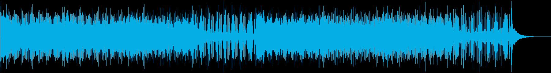 ウクレレとパーカスによる南国風の陽気な曲の再生済みの波形