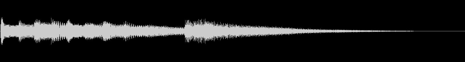 【生演奏】優しいピアノジングルの未再生の波形