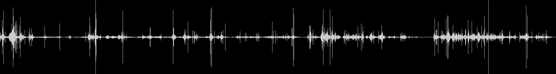 紙くずシャッフルクシャクシャの未再生の波形