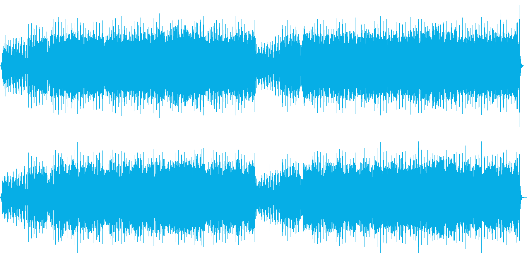 A feeling of running, retro, cool, flashy, mysterious's reproduced waveform