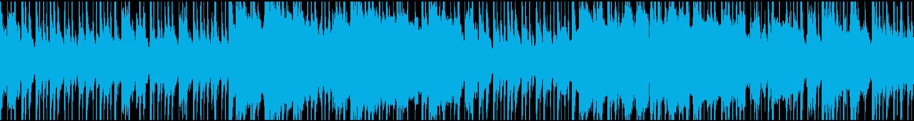 中東テイストのBGM(ループ)の再生済みの波形