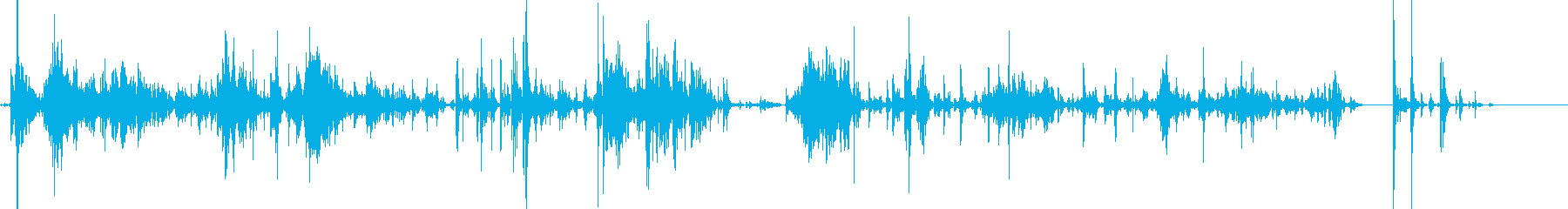 「ジャラジャラ」ブロック玩具をあさる音Bの再生済みの波形