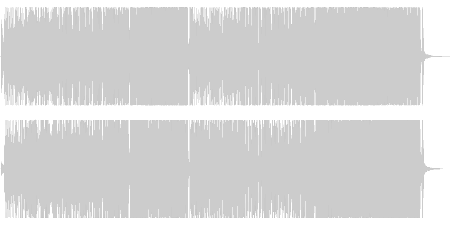 ギターポップパンク。シャッフルの未再生の波形