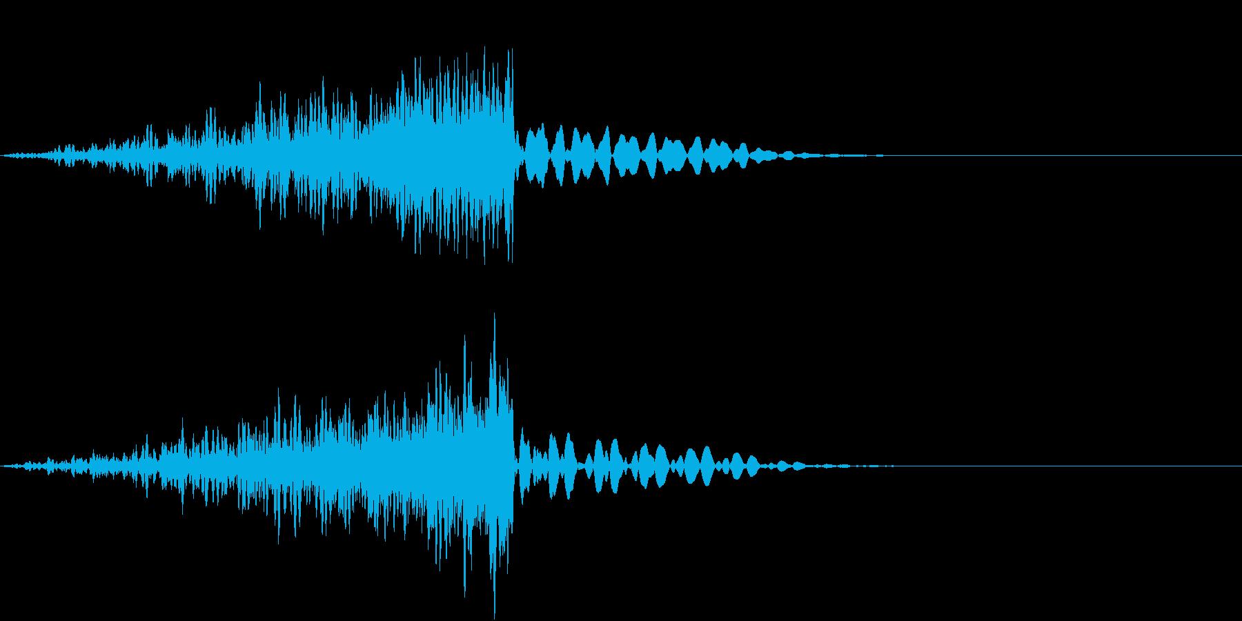 劇中のノイズの再生済みの波形