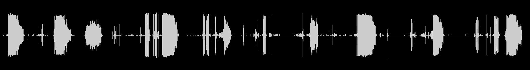 釣り竿ラインフィードの未再生の波形