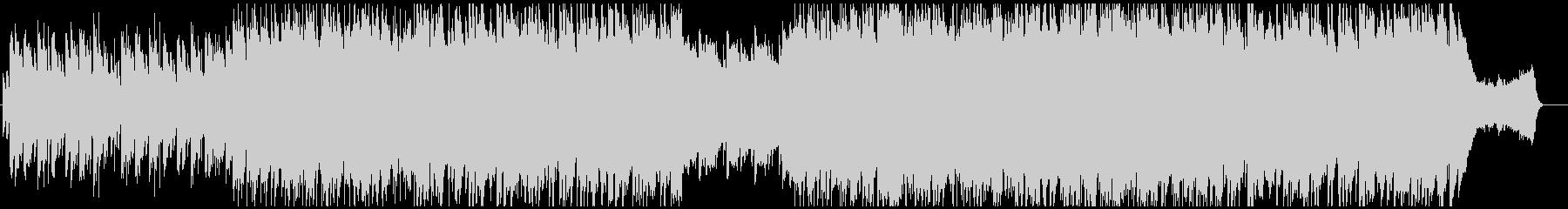 和の旋律のピアノバラードの未再生の波形