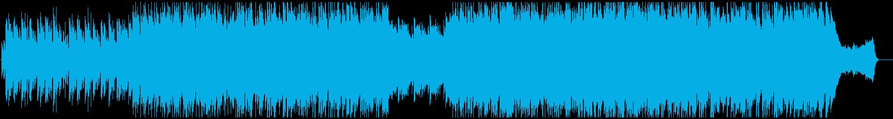 和の旋律のピアノバラードの再生済みの波形