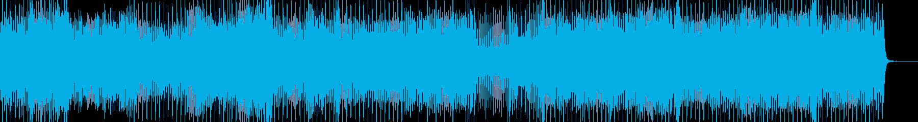 派手なシンセリードとシーケンスのテクノの再生済みの波形