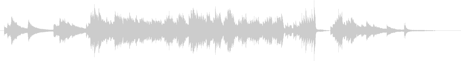 切ないのピアノの未再生の波形