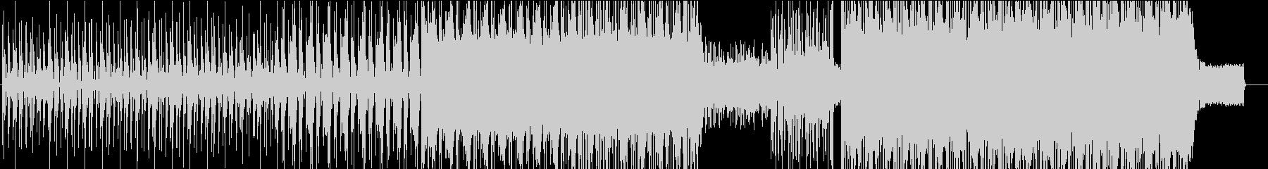 攻撃的な音のエレクトロミュージックの未再生の波形