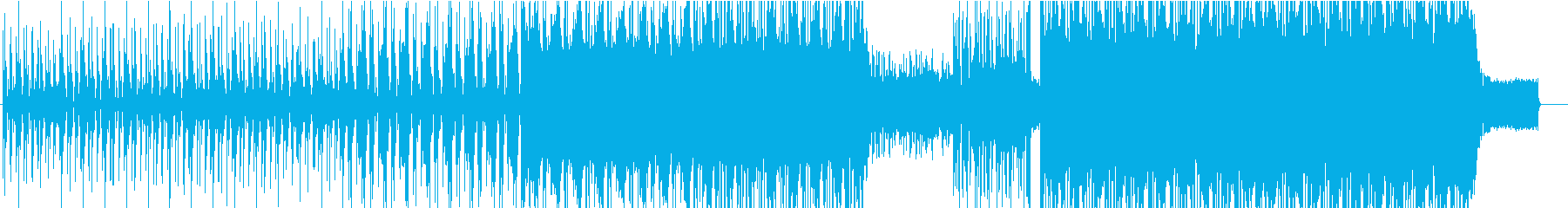 攻撃的な音のエレクトロミュージックの再生済みの波形