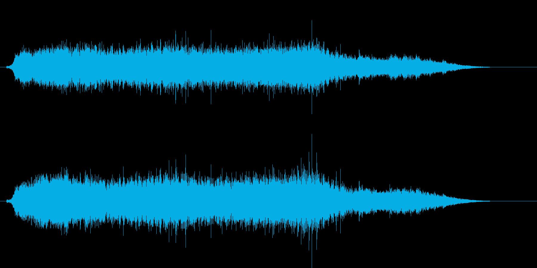 ドリルで木材に穴をあける音3の再生済みの波形