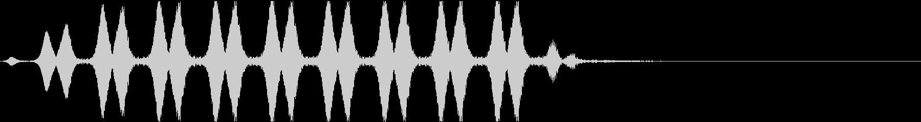 浮遊する効果音の未再生の波形