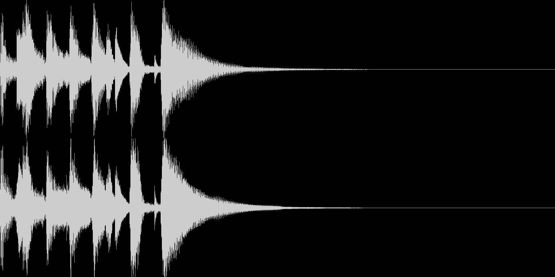 お洒落なジャズのジングル3の未再生の波形