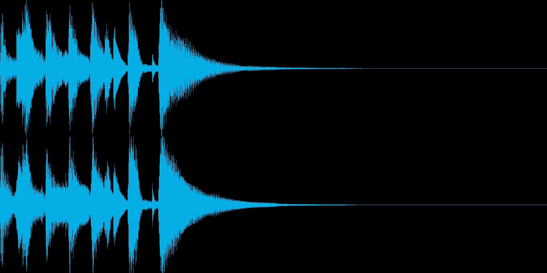 お洒落なジャズのジングル3の再生済みの波形