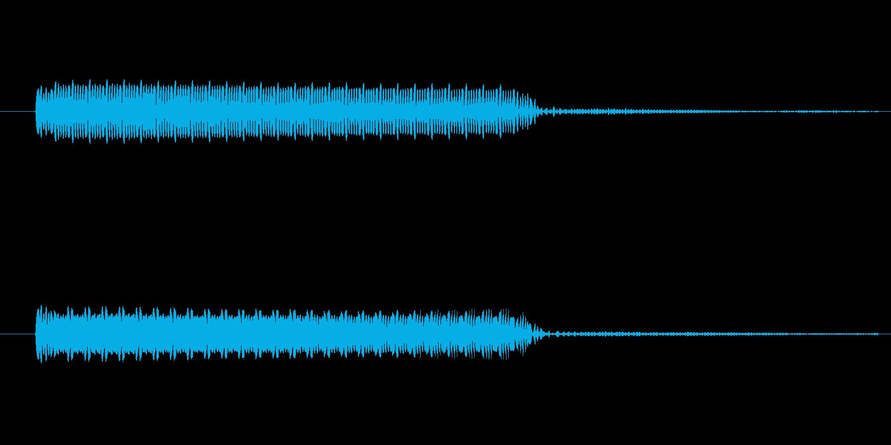 ゲーム、クイズ(ブー音)_010の再生済みの波形