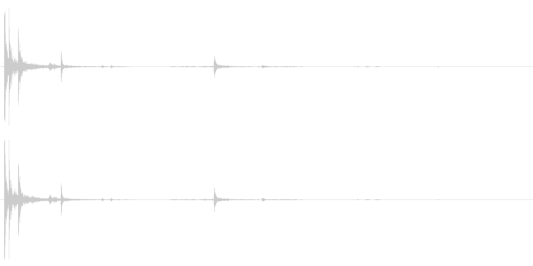 【生録音】パッケージ 開封音 6の未再生の波形