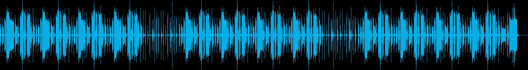 ほのぼのした日常の楽曲 劇伴の再生済みの波形