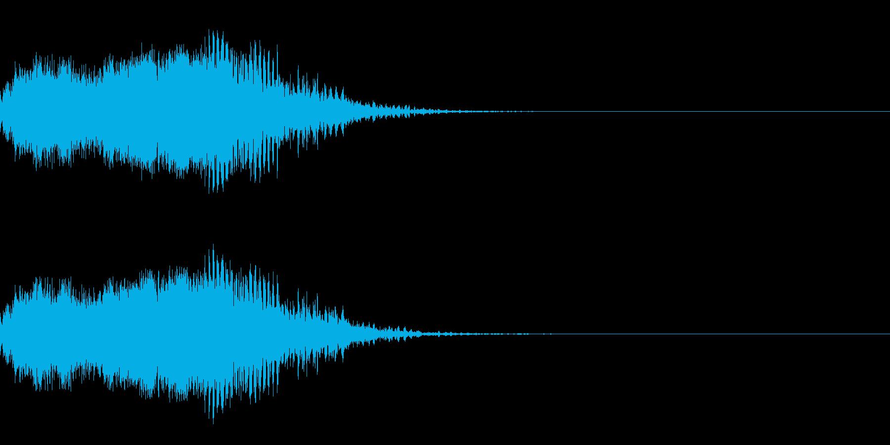 スパーク音-08の再生済みの波形