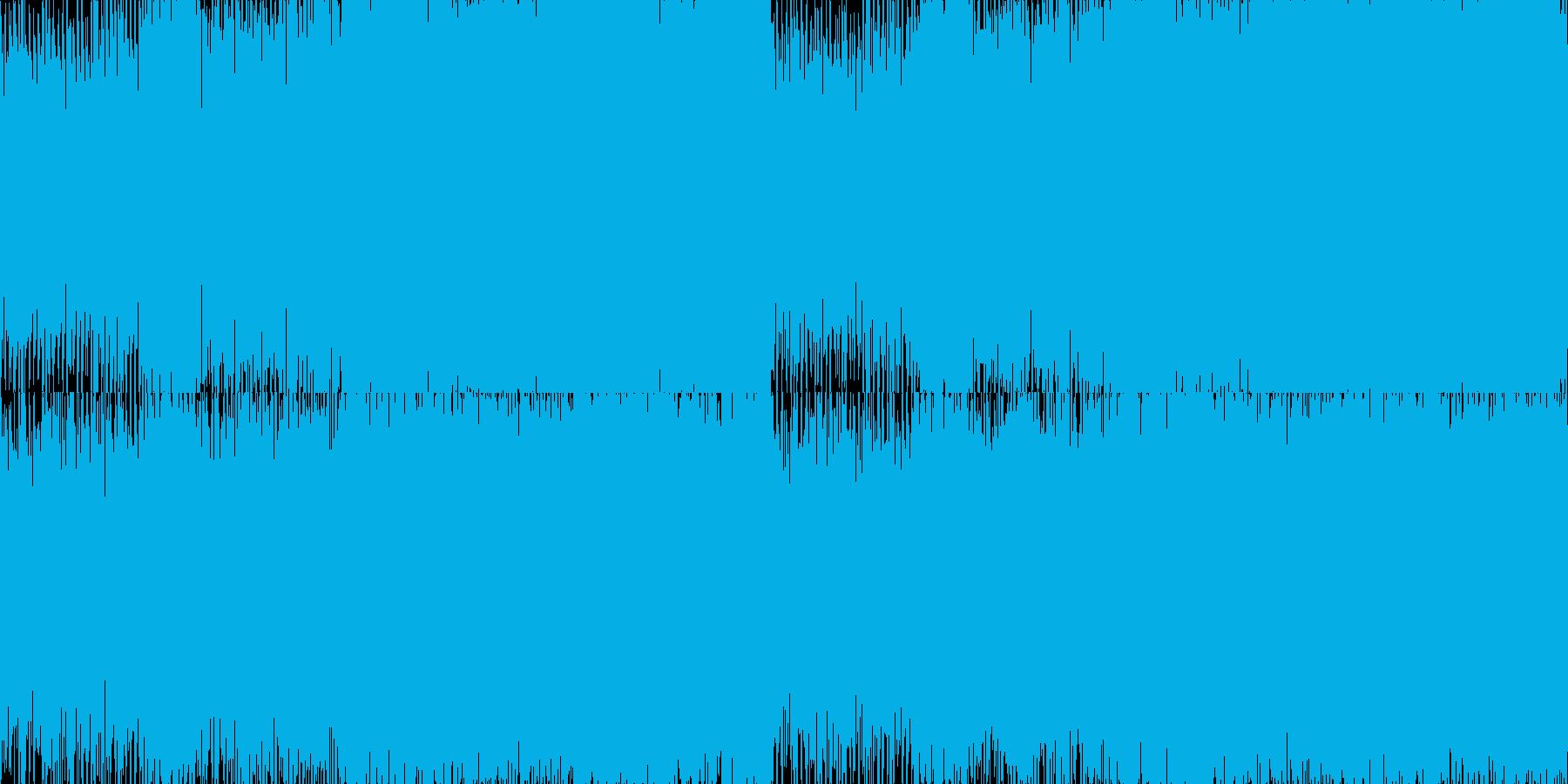 ループ処理版の再生済みの波形