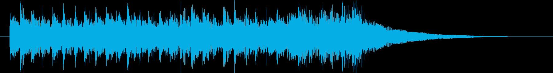 陽気なアイリッシュ風ジングルの再生済みの波形