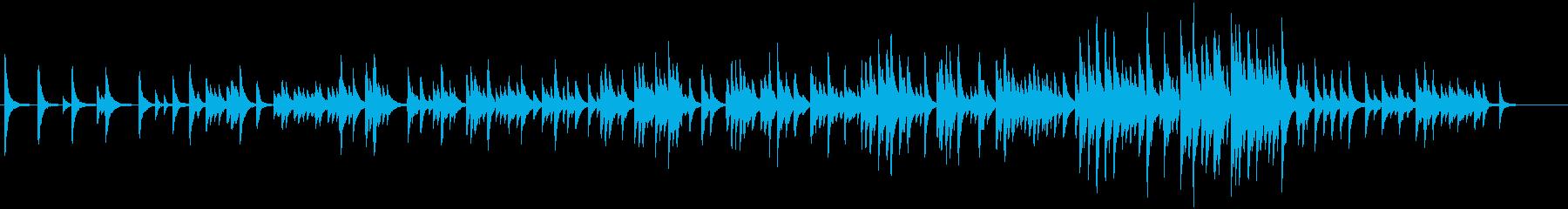 心落ち着くピアノ曲の再生済みの波形