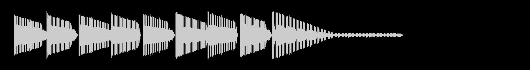 レトロゲーム風・中華風ジングル4の未再生の波形
