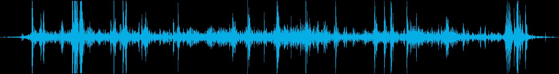 トロッコの転がるような音 ゴロゴロの再生済みの波形