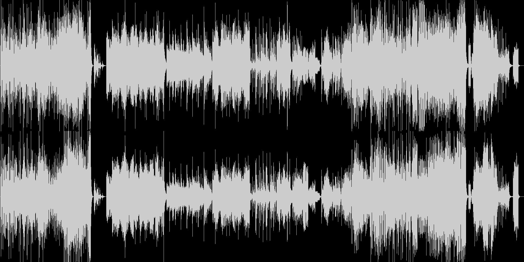 アップテンポでかっこいい和風の曲の未再生の波形