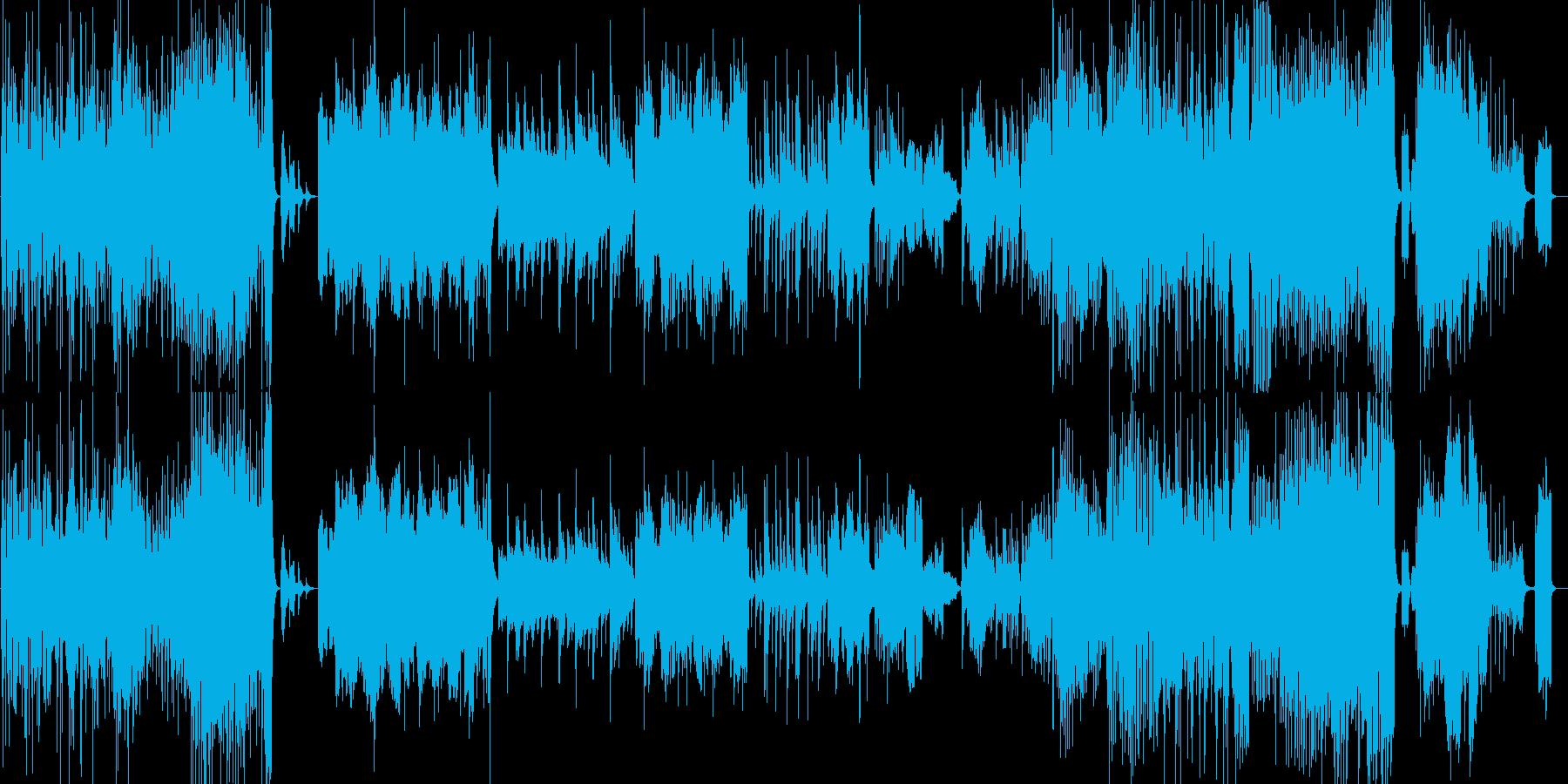アップテンポでかっこいい和風の曲の再生済みの波形