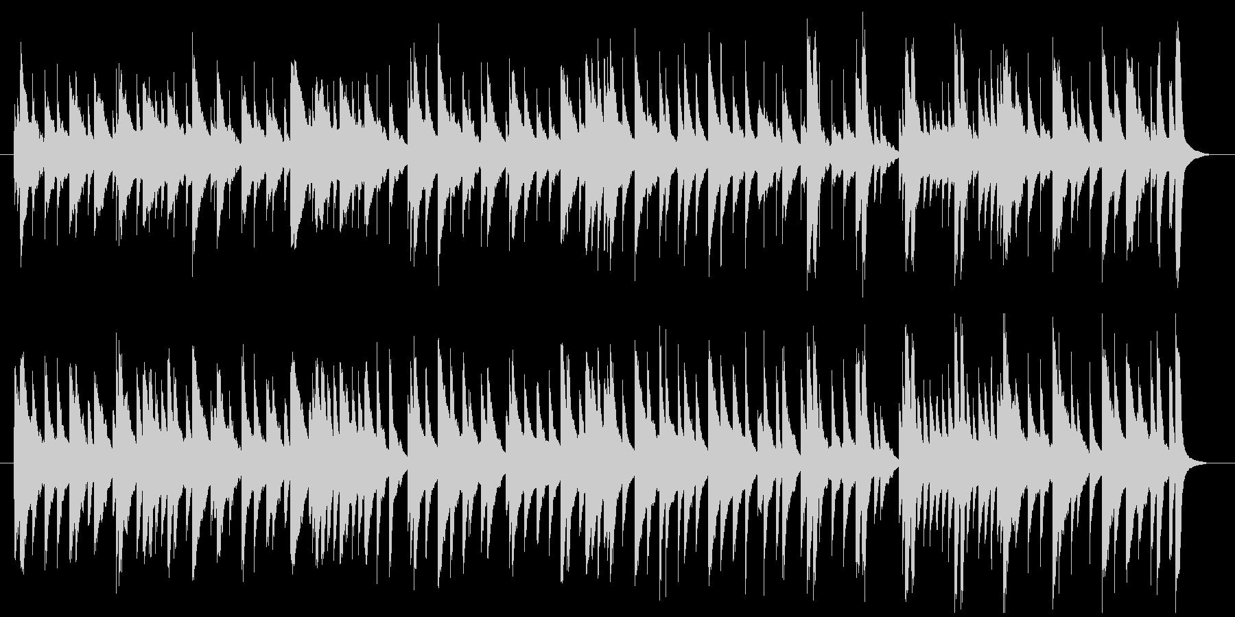 可愛い、コミカルな鉄琴メインのBGMの未再生の波形