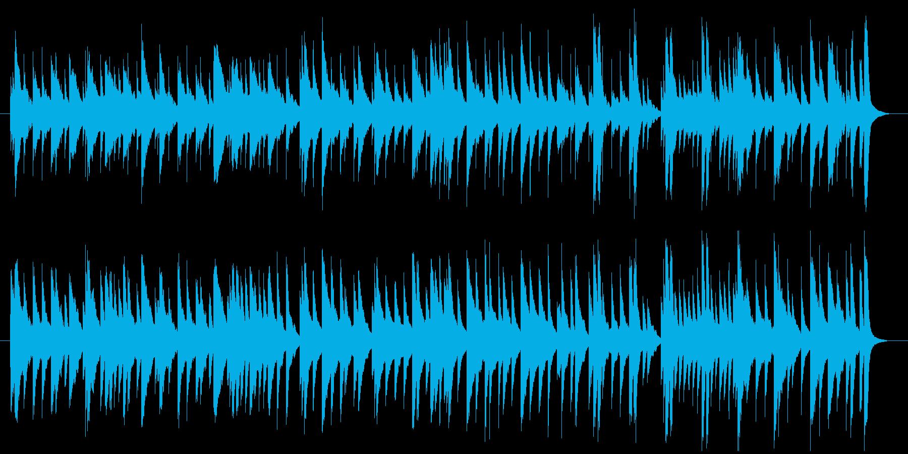 可愛い、コミカルな鉄琴メインのBGMの再生済みの波形