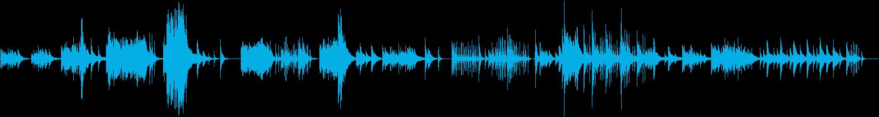 心が揺れ動くようにドラマチックなハープの再生済みの波形