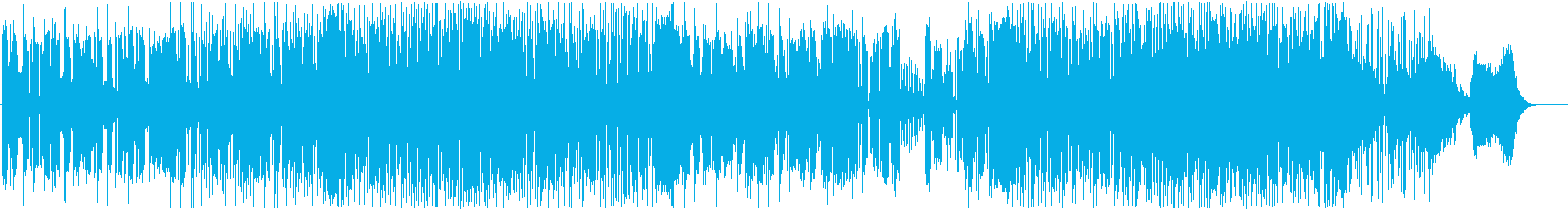 メタリックでダークな雰囲気のテクノの再生済みの波形
