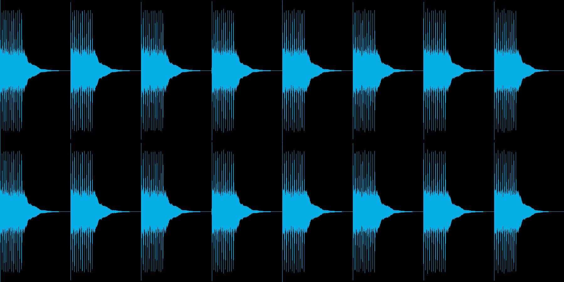 リリリ...。黒電話のベルD(長め)の再生済みの波形